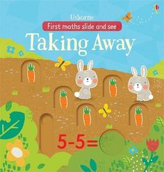 Slide and See Taking Away in the Garden - First Maths Slide and See (Board book)