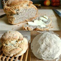 Chia Brot glutenfre mit Milch und ohne Hefe Collage