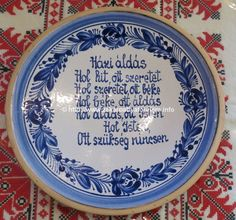 Házi áldás tányér - Hidi kerámia, Kerámia, Webshop / Shop - általános