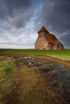 St Thomas à Becket church in Fairfield, Romney Marsh, Kent