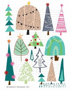 """craftstuff: """"(via (309) ric-rac: We finally got the tree up and decorated - christmas trees, patterns 