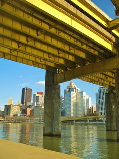 Pittsburgh view from under one of its many bridges..