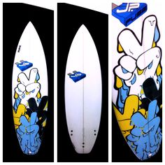 "SICK STICK !!! - check out this JP / INLAYZ / D79 ""Peace Out"" surfboard"