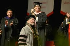 Willie Nelson receives an Honorary Doctor of Music Degree during the 2013 Berklee College Of Music Commencement Ceremony at Berklee College of Music on May 11 in Boston.