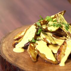 Peruvian-style Papa a la Huancaina with a crispy twist. You can't go wrong with potatoes and cheese!
