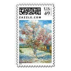 All Occasion VanGogh Peach Blossom Postage