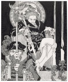 John Austen's Haunting Illustrations of Shakespeare's Hamlet: A Masterpiece of the Aesthetic Movement (1922)