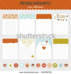Collection of romantic and love cards, notes, stickers, labels, tags with cute ornament illustrations. Template for scrapbooking, wrapping, notebooks, notebook, diary, decals, school accessories
