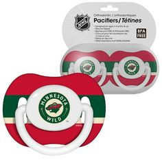 NHL Baby Pacifiers Minnesota Wild