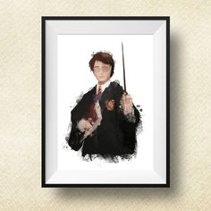 Hey, I found this really awesome Etsy listing at https://www.etsy.com/listing/227164181/harry-potter-portrait-print-harry-potter