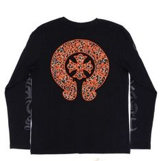 61ba019bd001 ... Leopard Horseshoes Embellished T-shirt  Orange Leopard Horseshoes  Embellished T-shirt  -  171.00   Chrome Hearts On Sale