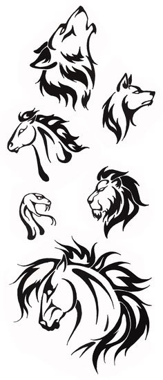 Simple Tribal Animal Designs Thehellcow