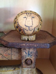 Lisa Larson Small Pottery Lion on Etsy, $48.00