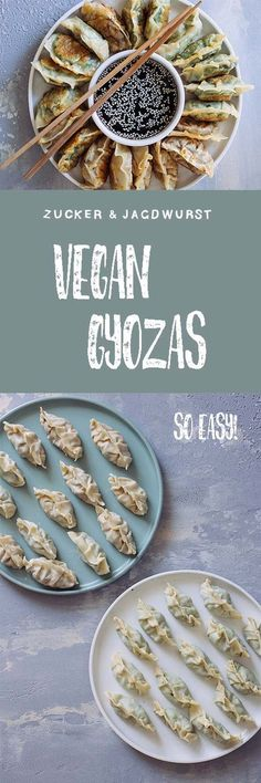 Vegan Gyozas with two different fillings