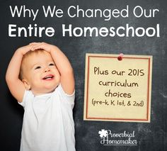 Why We Changed Our Entire Homeschool (Plus 1st & 2nd Grade Curriculum Choices) - http://www.proverbialhomemaker.com/why-we-changed-our-entire-homeschool-plus-1st-2nd-grade-curriculum-choices.html