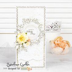 Kartka ślubna z kolekcji Forever in love oraz Cherry Blossom ze Studio 75. #cardmaking #scrapbooking #papercraft