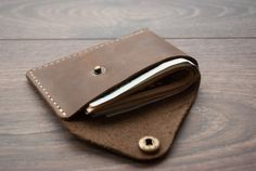 Minimalist Wallet Best Leather Wallet Slim Wallet by Rachiba