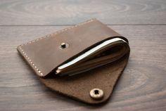 Minimalist Wallet Best Leather Wallet Slim Wallet by Rachiba