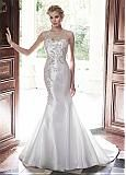 Buy discount Graceful Spandex & Tulle Jewel Neckline Beaded Mermaid Wedding Dress at Dressilyme.com