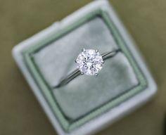 10 Breathtaking Solitaire Engagement Rings   Intimate Weddings - Small Wedding Blog - DIY Wedding Ideas for Small and Intimate Weddings - Real Small Weddings