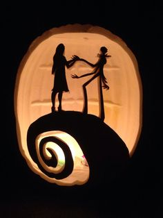 Jack and Sally 02 - Stoneykins Pumpkin Carving Patterns and ...