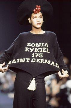 Défilé Sonia Rykiel prêt-à-porter printemps-été 1989