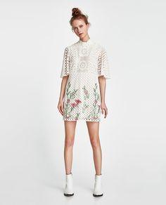2a7331e33f3 VESTIDO BORDADOS ENCAJE Cute Summer Outfits, Casual Outfits, Zara Women,  Zara Fashion,