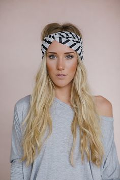Girl's Twist Headband Knotted Head Wrap Turband by ThreeBirdNest