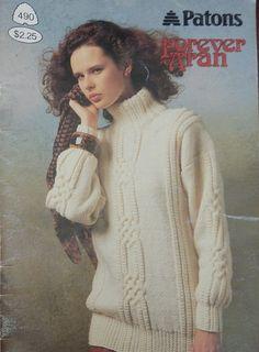 Patons Aran Style Fisherman Knit Cardigan and by RedWickerBasket