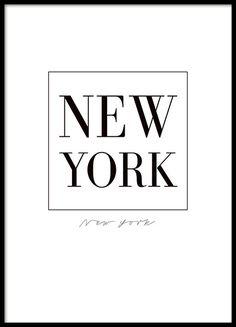 Cuadro de Nueva York, con texto negro sobre fondo blanco.