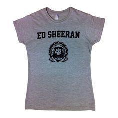 Ed Sheeran - Ladies Crest T-Shirt in Grey