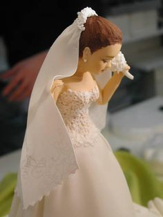 How To Make Sugarpaste Bride And Groom Cake Toppers
