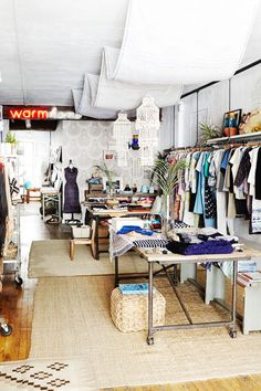 """Decor Tips From 5 Beautiful NYC Store Interiors #refinery29  http://www.refinery29.com/store-interiors-home-tips#slide1  1. Warm  Warm is a shop that changes by the season. """"My husband, Rob, and I own the store together,"""" says Winnie Beattie, """"and we change the interior decor depending on whatever is inspiring us at the moment."""" This fall's theme? """"Go!"""" says Winnie. """"As in travel, escape, get out of town — it doesn't matter where you go, just go."""" Design-wise, this meant the addition of ..."""