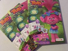 TROLLS Sticker Activity Coloring Book Dreamworks  | eBay