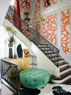 Kelly Wearstler interiors. --poof and small area...Kelly is such an inspiration...so lively...love her.