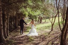One of our favourite photos! The trees are beginning to get their leaves back :) Taken by the incredible Michelle Ley Hills And Valleys, Unique Wedding Venues, Tree Tops, Perfect Place, Fields, Trees, The Incredibles, Leaves, Wedding Dresses
