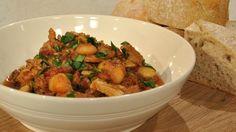 Chicken, chorizo and butter bean casserole