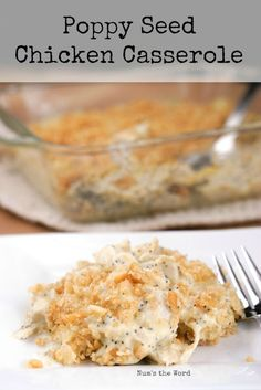 This Poppy Seed Chicken Casserole is ready in 30 minutes and makes the perfect weeknight meal for the busy modern cook! Kid-friendly and guest approved its sure to become a favorite! Potluck Recipes, Casserole Recipes, Fall Recipes, Cooking Recipes, Potluck Meals, Dinner Recipes, Freezer Meals, Poppy Seed Chicken Casserole, My Favorite Food