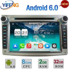 """32GB ROM 7"""" WiFi 4G Octa Core 2GB RAM Android 6.0 Car DVD Radio Player Stereo For Subaru Legacy Outback 2008-2013 GPS Navigation"""
