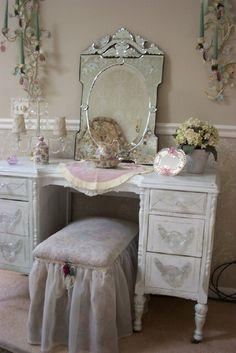 Victorian Rosa Rose Venetian Glass Mirror