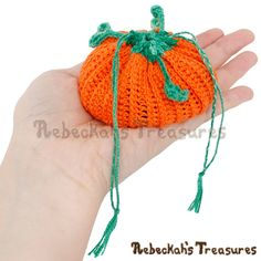 cdb7293430cd If you love pumpkins and storing mini trinkets in drawstring bags