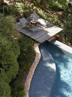 A very cool place to relax and if you feel like a swim jump in from the deck. Love it!