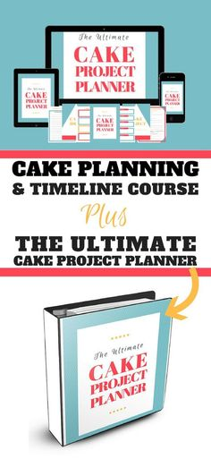 The Cake Planning & Timeline Course Plus Planner is all about how to plan your cake projects, so there's less stress and no more last minute freak outs.