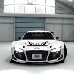 Probably the meanest Audi R8 to grace pinterest - Epic!