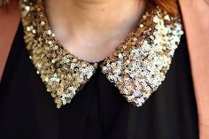 Sequin collar.