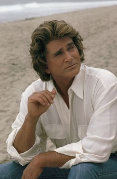 "Michael Landon as: The Angel Jonathan Smith from the famous TV Show ""Highway to Heaven."