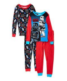 Look what I found on #zulily! Red LEGO Star Wars Four-Piece Pajama Set - Boys #zulilyfinds