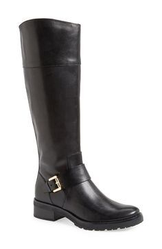 Black riding boots for fall.