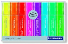 Amazon.com: Staedtler Textsurfer Classic Highlighter 8 Color Set of Rainbow Colors, 364PWP8: Office Products $11.89