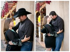 New Mexico Cowboy Engagement Photography with horses.